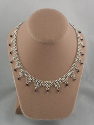 Chainmail necklace swarovski a 5x6